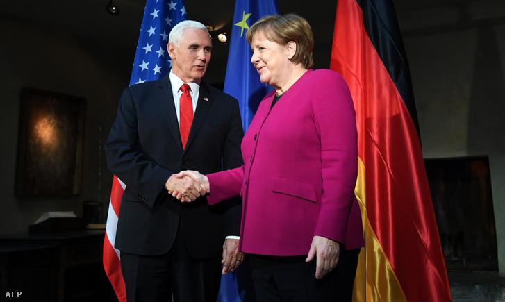 Mike Pence találkozott szombaton Angela Merkellel is