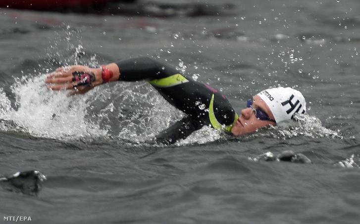 Rasovszky Kristóf a nyíltvízi úszók 25 km-es számában a glasgow-i úszó Európa-bajnokságon, 2018. augusztus 12-én.