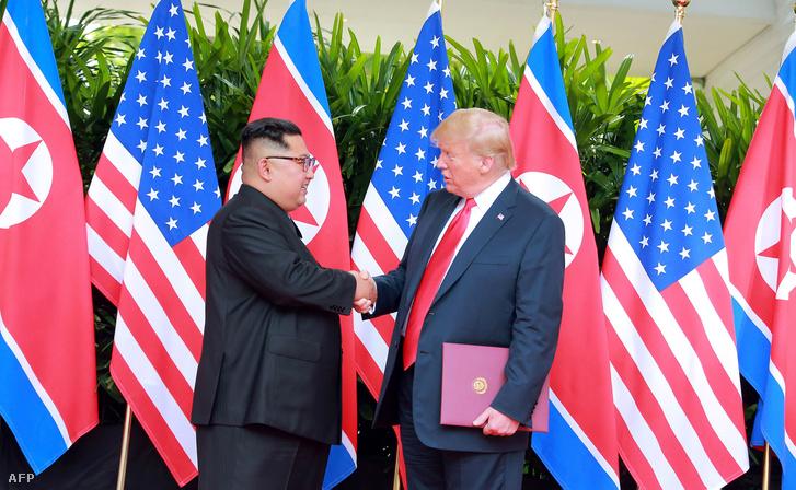 Kim Dzsongun és Donald Trump találkozója Szingapúrban