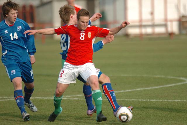 Novothny Soma tavaly a U17-es válogatott Izland elleni EB selejtezőn