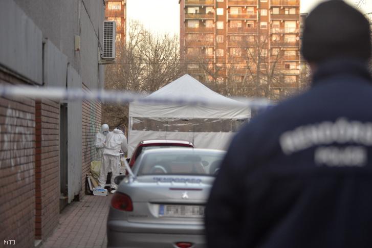 A rendőrség bűnügyi technikusai helyszínelnek 2019. február 17-én a XIV. kerületi Nagy Lajos király útja és Egressy út kereszteződésének közelében, ahol egy autó első ülésén egy halott férfit találtak. A helyszíni szemle során kiderült, hogy a 60 éves férfi halálát idegenkezűség okozta, ezért emberölés gyanúja miatt indítottak nyomozást ismeretlen tettes ellen.