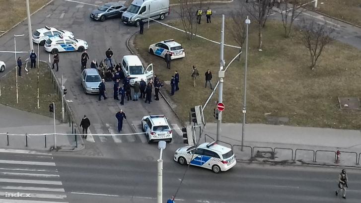 Sz. Károly elfogása a XIV. kerületi Szentmihályi út és Nyírpalota út kereszteződésénél 2019. február 15-én