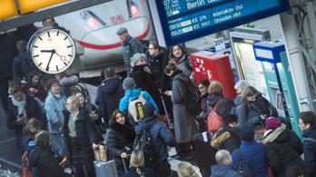 Minden negyedik német vonat késett tavaly