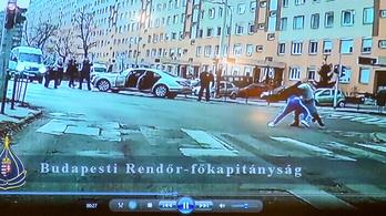 Videón, ahogy a szökött fegyveres rabot üldözik, majd lebirkózzák