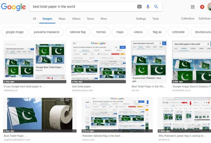 """A """"világ legjobb vécépapírja"""" keresésre adott képtalálatok a Google-ön"""