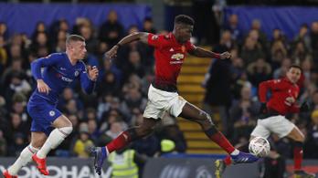 FA-kupa: Pogba örömjátékával a ManU egy félidő alatt elintézte a Chelsea-t