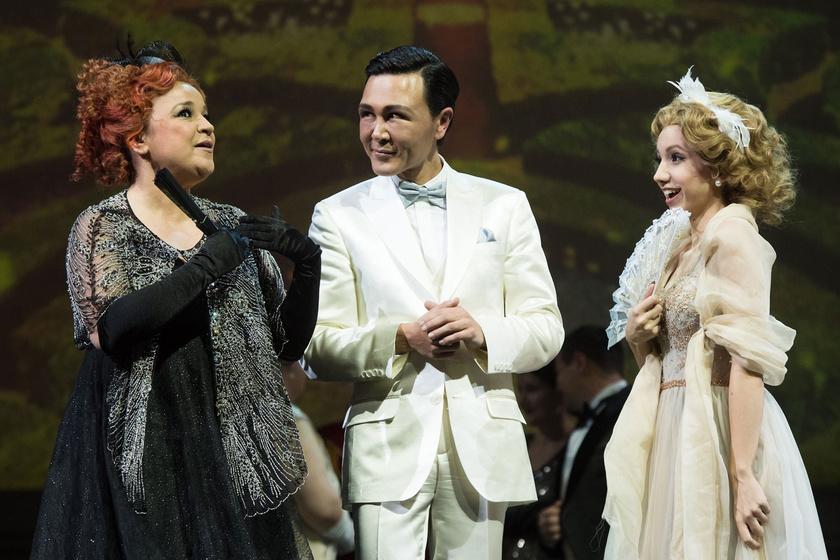 Náray Erika, Vincent Schirrmacher és Kardffy Aisha Lehár Ferenc A mosoly országa című operettjének fotóspróbáján a Müpában 2019. január 30-án.