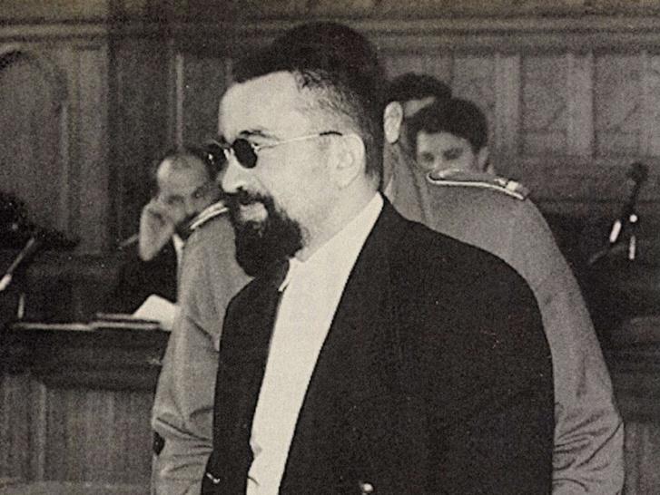 Magda Marinkó 1995-ös tárgyalásán. Forrás: 168 óra, 1995. szeptember 26. / Arcanum Adatbázis