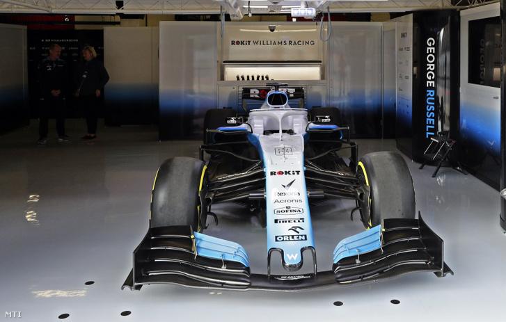 A szinte üres Williams-garázs a 2019-es Forma-1-szezon előtti barcelonai teszt második napján