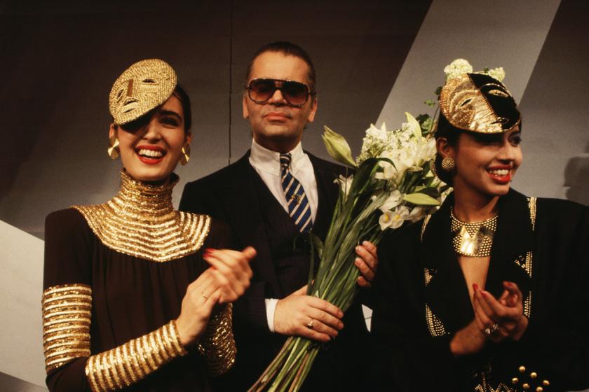 1983-ban a Chanel tavaszi kollekciójának bemutatóján.
