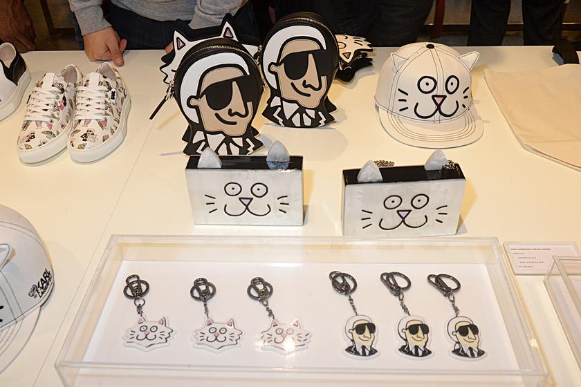 Kiegészítőit gyakran díszítette saját vagy épp cicája képmásával. Üzletei tele vannak hasonló, kreatív és egyedi táskákkal, cipőkkel vagy kulcstartókkal.