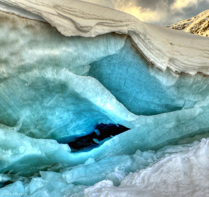 Jégbarlang Pontersina-ban