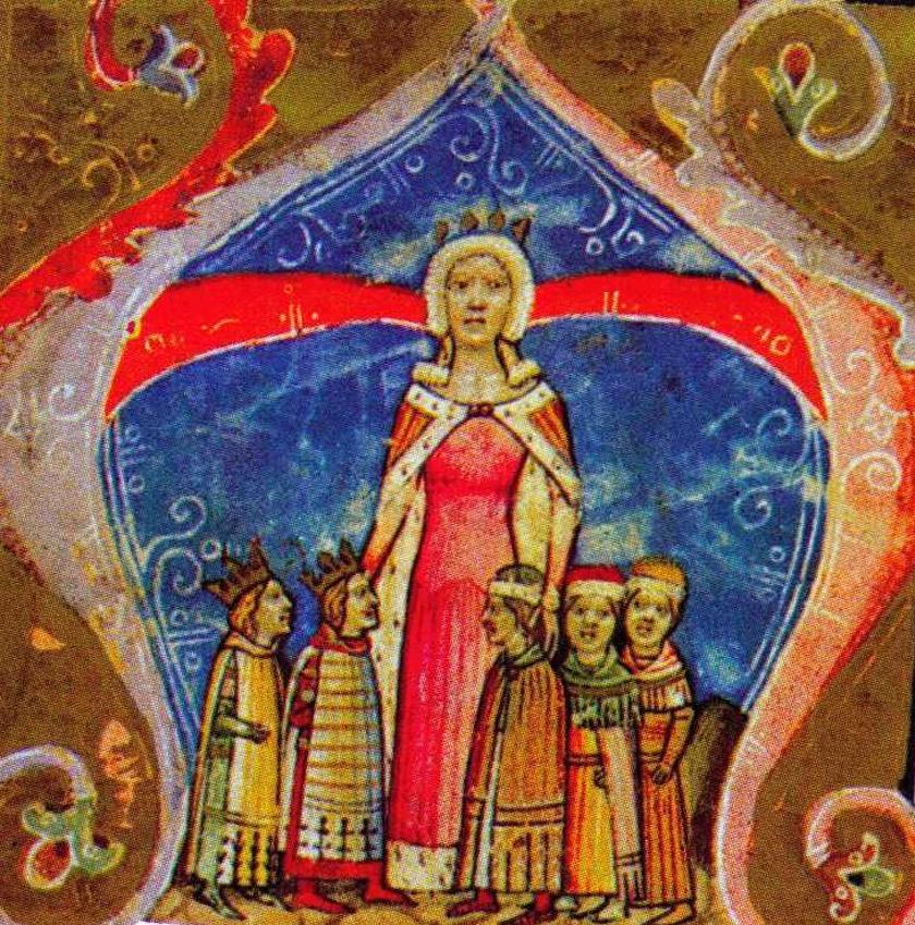 Piast Erzsébet királyné.