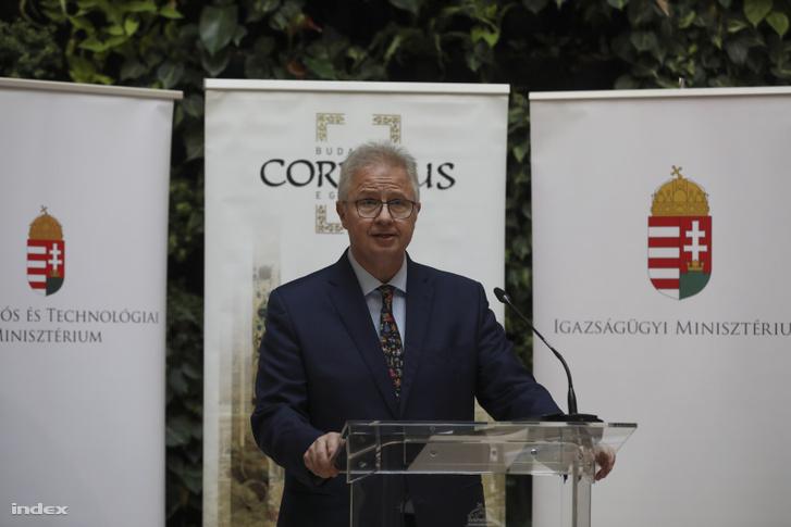 Trócsányi László a Corvinuson 2019. február 11-én