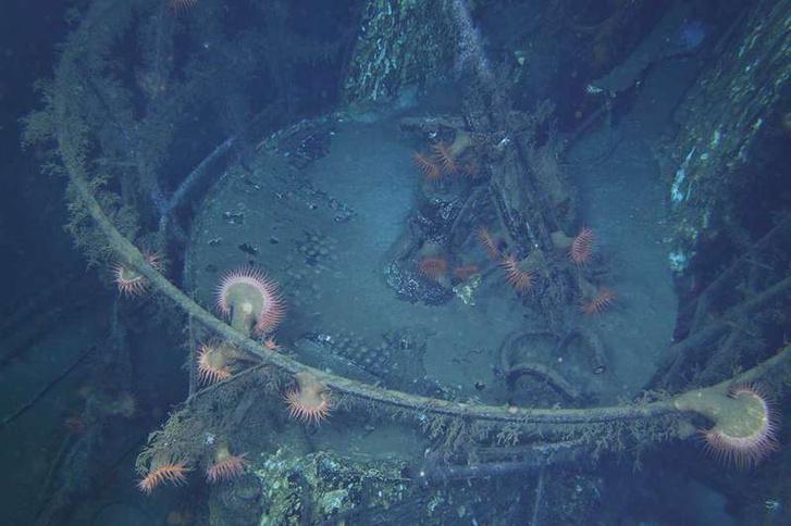 Az U-166-os német tengeralattjáró tenger mélyére süllyedt maradványai