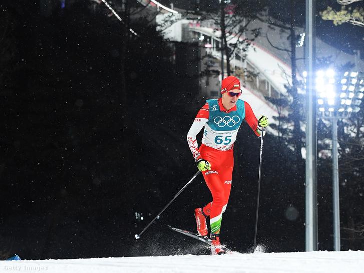 Kónya Ádám a phjongcshangi olimpia 15 km-es sífutószámában