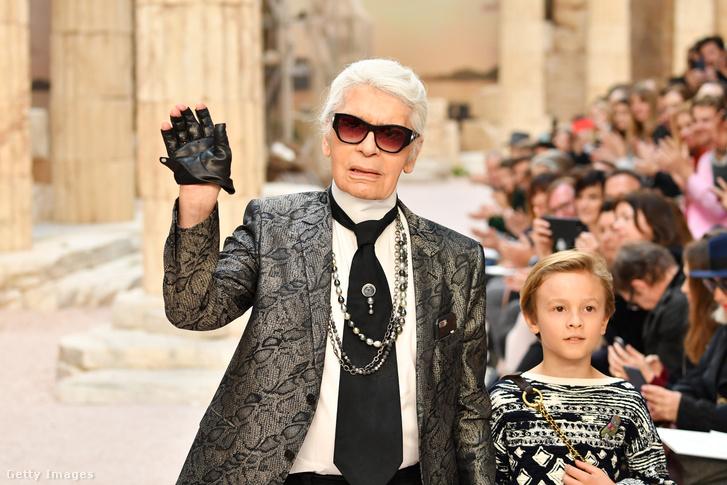 Lagerfeld és kedvenc keresztfia, Hudson Kroenig