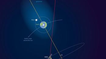 A Föld atmoszférája túlér a Holdon