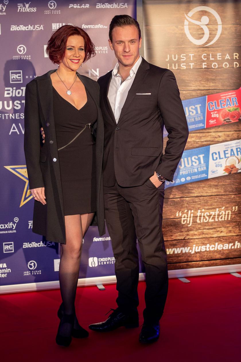 Polyák Lilla és Gömöri András Máté, aki Az év legfittebb színésze lett.