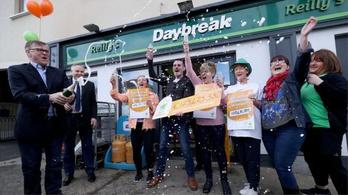 175 millió eurót kaszált egy ír család a lottón