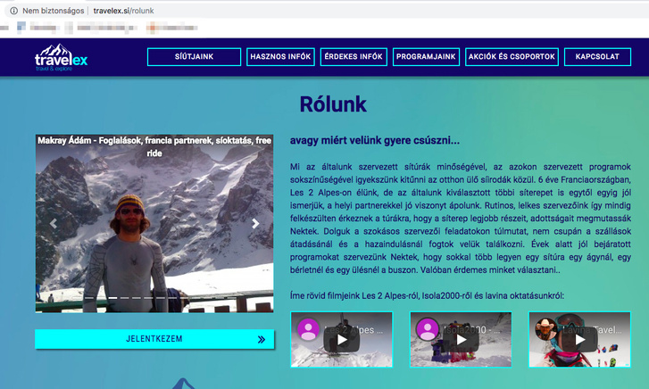 Makray Ádám fotója a Travelex oldalán (ő volt az Alpe D'Huez-i út főszervezője)