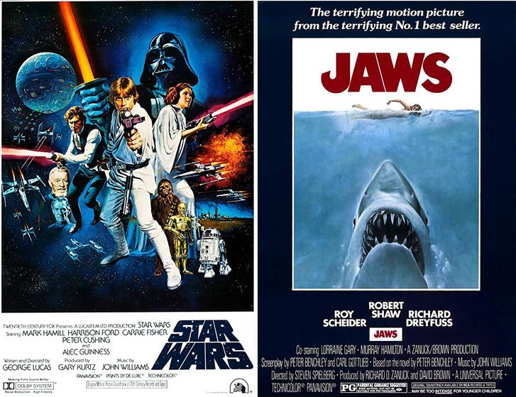 Star Wars és A cápa plakátja