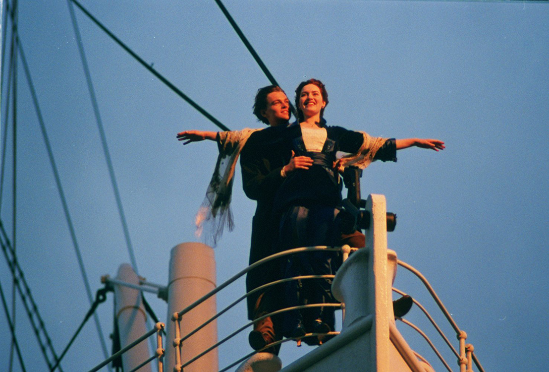 Leonardo DiCaprio és Kate Winslet a Titanic című filmben