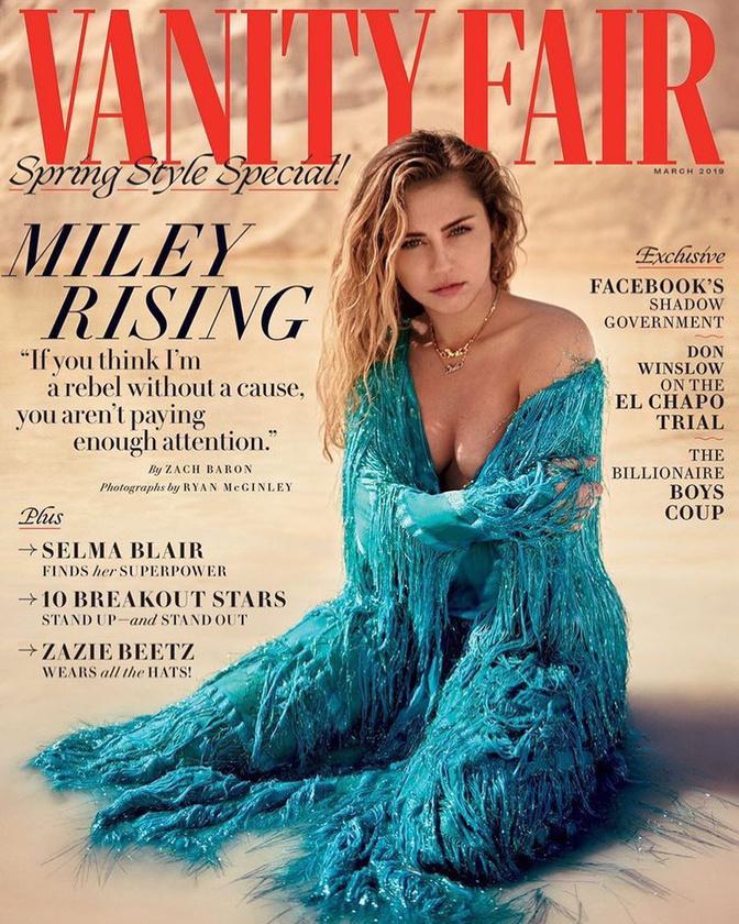 Most a Vanity Fairnek köszönhetően picit visszatérhetünk a régi szép időkhöz, amikor Cyrus polgárpukkasztó vadóckodása volt téma.