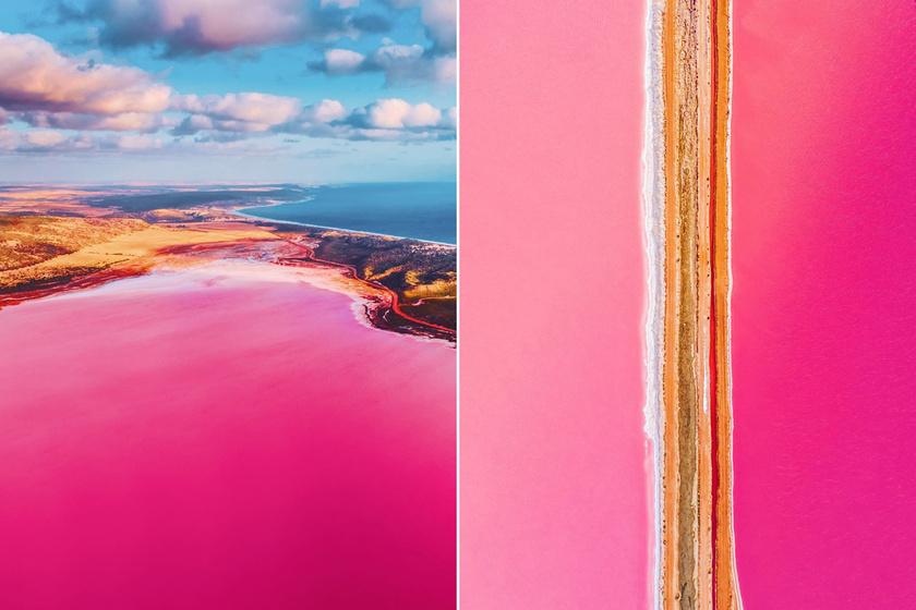 Titokzatos természeti csoda a rózsaszín tó: ilyen gyönyörű fotókat még nem láttunk róla