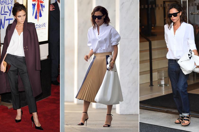 4bdf77328c Victoria Beckham aztán tudja viselni a fehér inget - Így hordja, hogy  változatos és nőies legyen az egyszerű darab