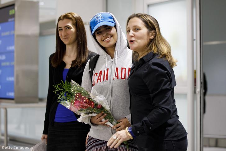 Rahaf Mohammed al-Kunun Kanadába érkezik 2019. január 12-én.