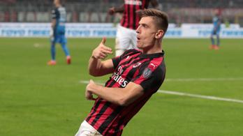Nem bír leállni a gólgyártással a Milan lengyel bombázója