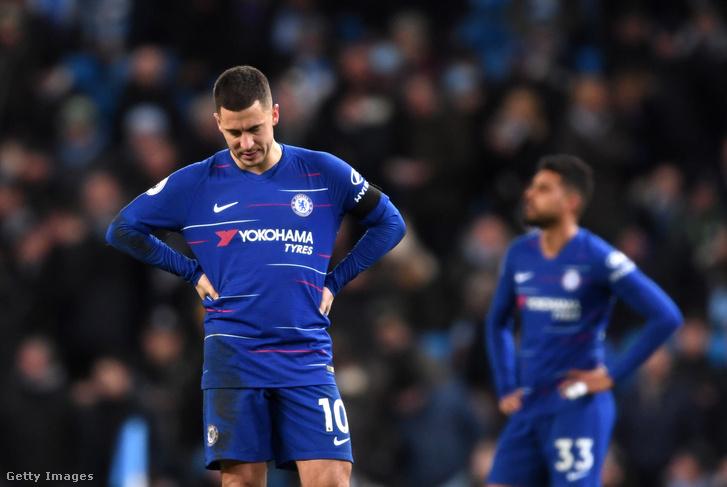 Eden Hazard (balra) 2019. február 10-én, Manchesterben