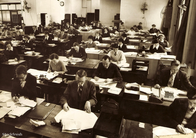 stockfresh 261046 office-life-in-the-1950s sizeM