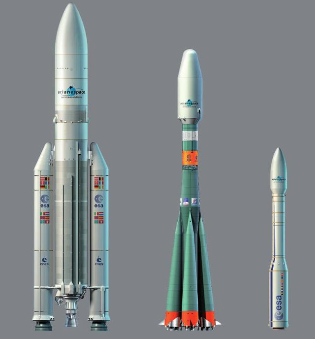 Ariane-5, Szojuz és Vega