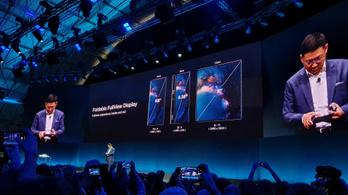 Itt az összehajtható Huawei Mate X mobil