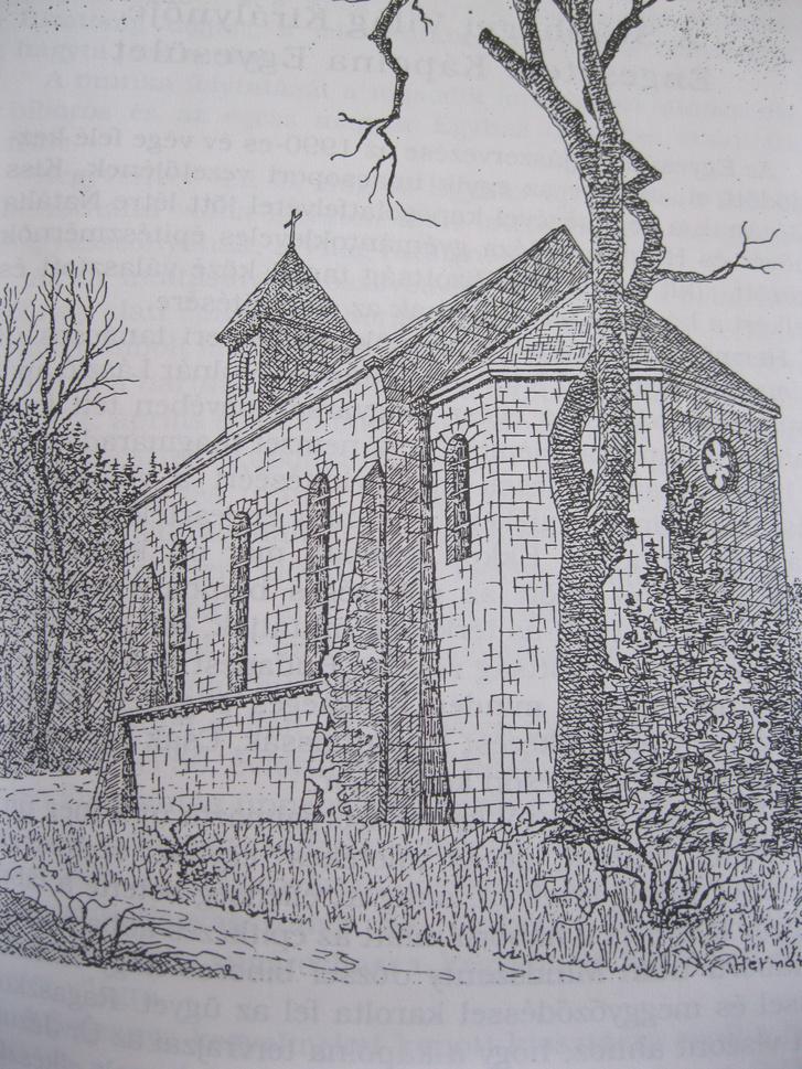 A 40-es években tervezett, soha fel nem épült kápolna ma már túl nagy lenne az Anna-rétre
