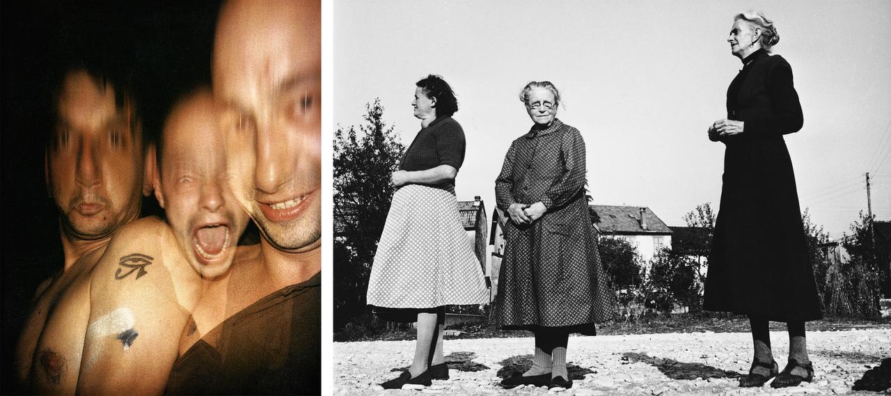 Rodolf Hervé - A Rézonnance csoport tagjai 1990 Budapest; Lucien Hervé - Három asszonyság 1951 Audincourt