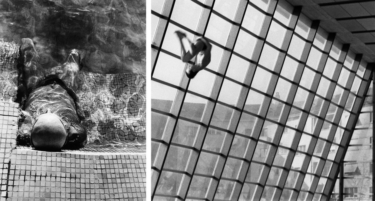 Rodolf Hervé - Dagály Fürdő (langyos víz sorozat) 1990 Budapest; Lucien Hervé - Kongresszusi Központ 1964