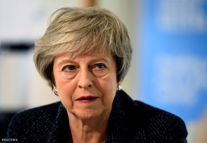 Theresa May 2019. február 5-én.