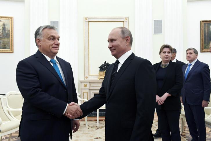 Vlagyimir Putyin orosz elnök fogadja Orbán Viktor miniszterelnököt