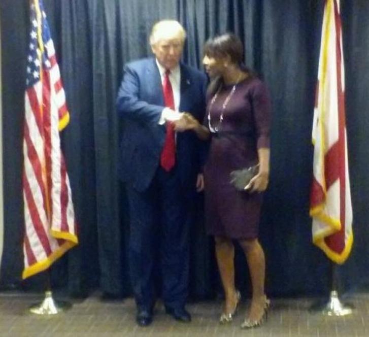 Donald Trump és Alva Johnson 2015-ben