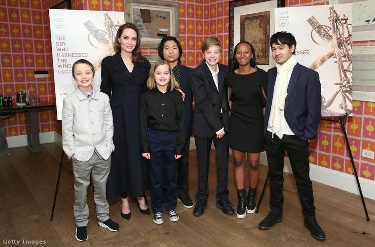 Ezzel a csoportképpel búcsúzik Öntől Angelina Jolie, Shiloh, Maddox, Pax, Knox, Zahara és Vivienne.