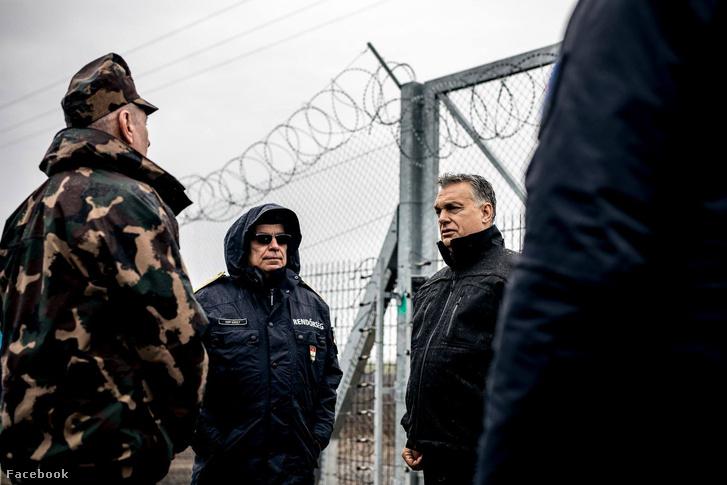 Orbán Viktor a határzárnál 2018. márciusában