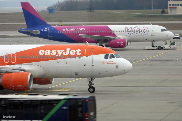 Wizzair és easyJet járatok a budapesti Liszt Ferenc Repülőtéten.