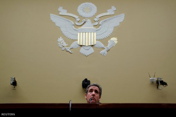 Michael D. Cohennek a meghallgatásán Washingtonban 2019. február 27-én