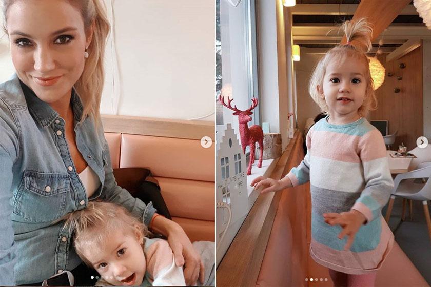 Som-Balogh Edina lánya napról napra szebb. Lilien márciusban ünnepli második szülinapját.