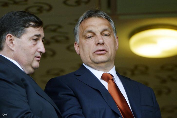 Mészáros Lőrinc és Orbán Viktor a felcsúti Pancho Aréna megnyitóján