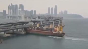 Megmagyarázhatatlan manőverek után hídnak ütközött teherhajójával egy részeg orosz kapitány
