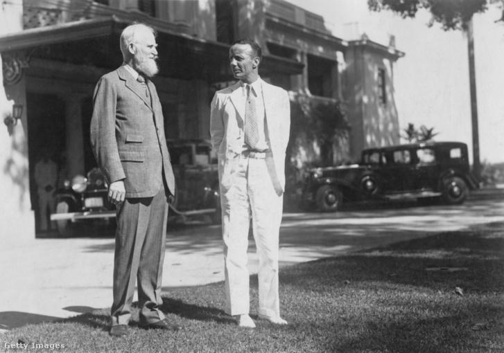 George Bernard Shaw (1856 - 1950, balra) meglátogatja Theodore Roosevelt Jr. (1887 - 1944) Manilában 1932 környékén